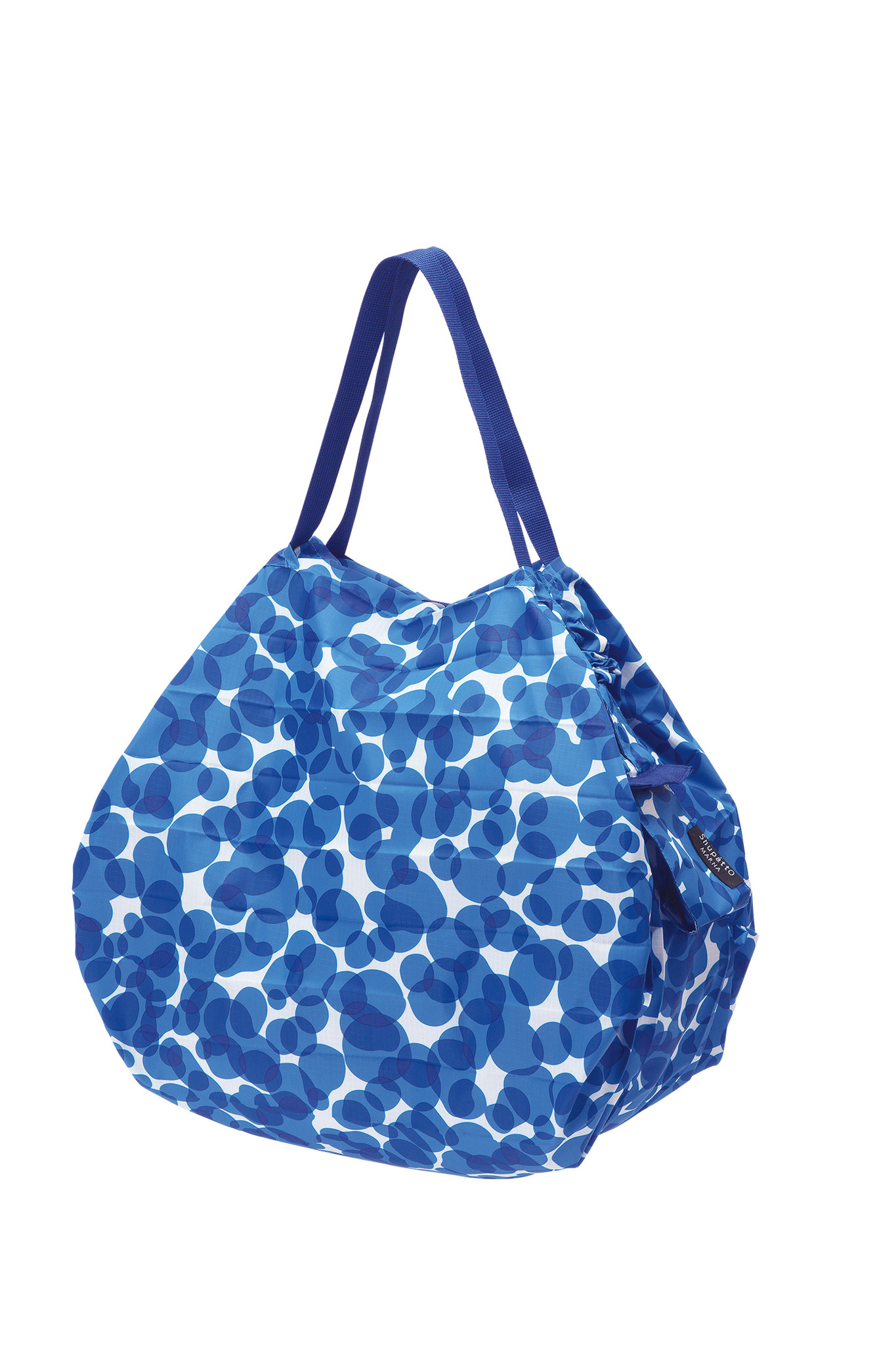 Compact Bag M - UMI - Foldable Shopping Bag One-Pull (patented) Multicoloured (Blue/White), Polyester