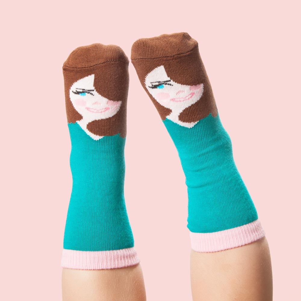 chatty feet motivsocken kate middle toe socken online bei isda kaufen. Black Bedroom Furniture Sets. Home Design Ideas