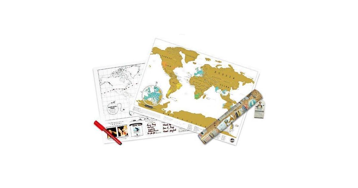 travel scratch map reisekarte geschenke online bei. Black Bedroom Furniture Sets. Home Design Ideas