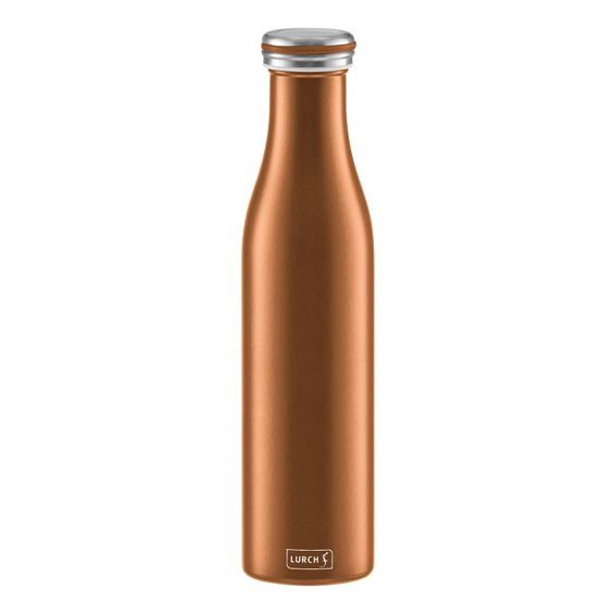 Insulating bottle stainless steel 0.75 l in bronze