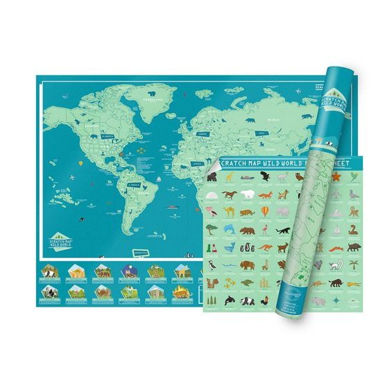Scratch Map Wild World