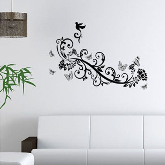 Wall Tattoo Butt Vine Wall Sticker